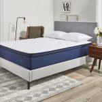 Memory foam mattress decorated bedroom