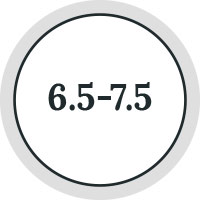 6.5 to 7.5 icon