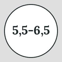 5.5 to 6.5 icon