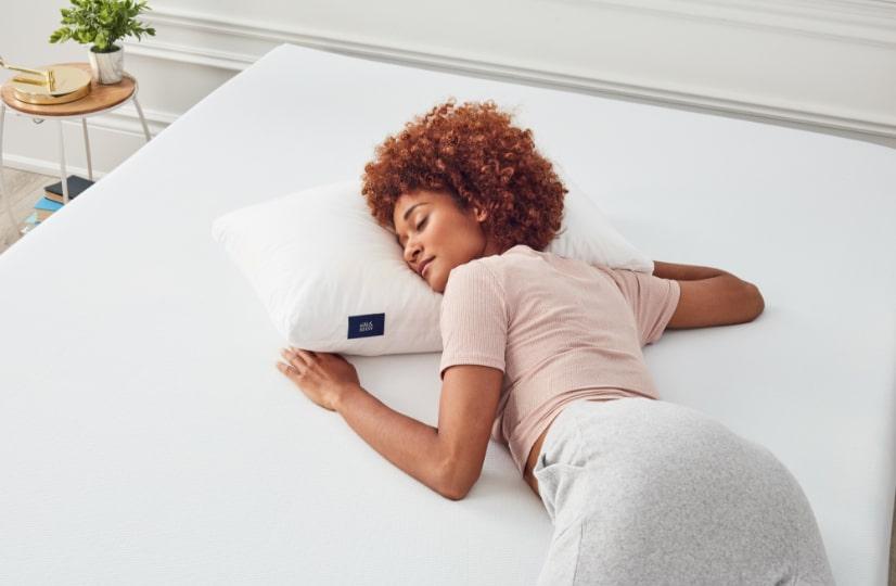 Women sleeping on stomach
